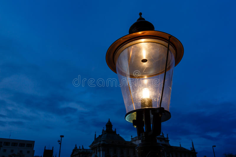 Download Vintage Illuminated Street Lamp Stock Photo - Image: 28721606