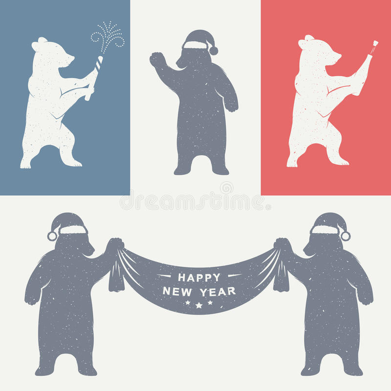 Vintage Illustration of Bear vector illustration