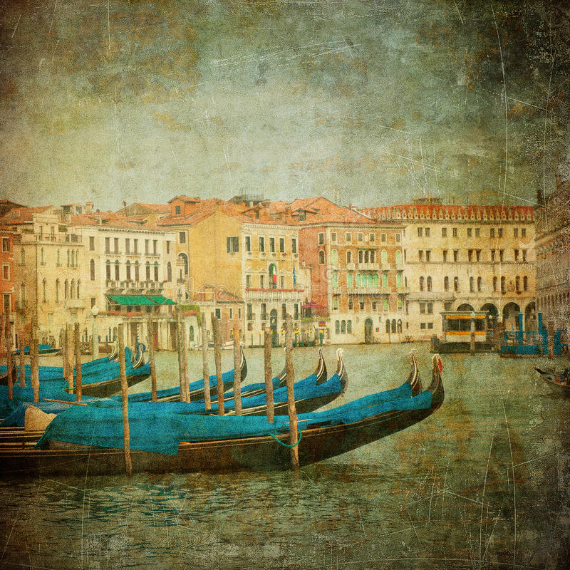 Download Vintage Image Of Grand Canal, Venice Stock Image - Image of medieval, beautiful: 20600729