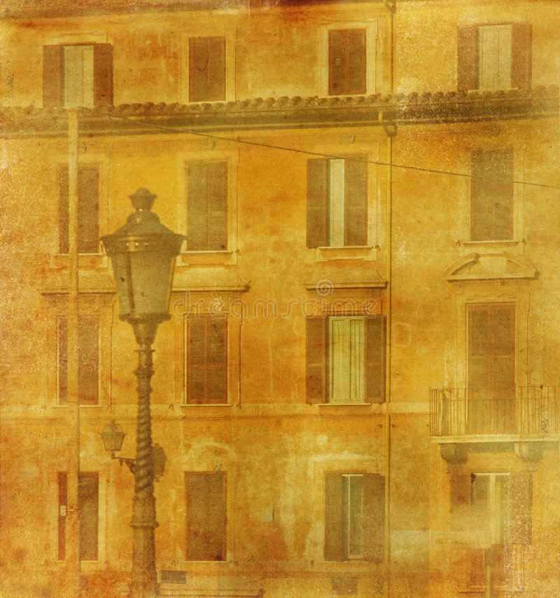 Download Vintage Image Of House In Rome Stock Illustration - Image: 4530999