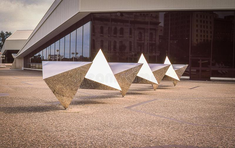 Vintage Image of Metal Sculpture at Adelaide Opera House stock photo