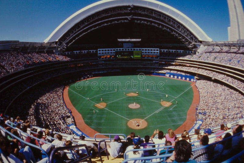 Vintage image of Sky Dome, Toronto, Canada stock photos