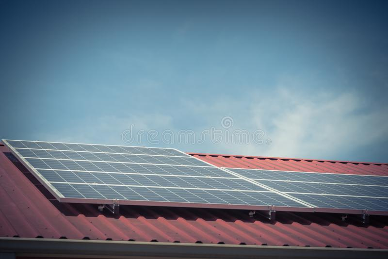 Solar Panels On Steel Roof Floor Of Commercial Building In Texas