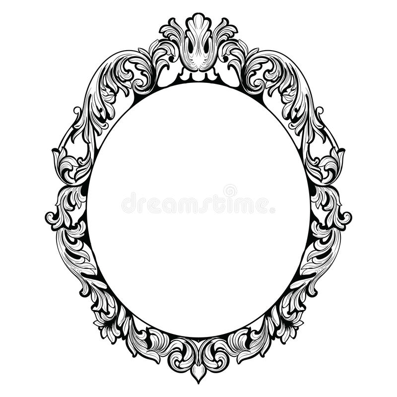 vintage imperial baroque mirror frame vector french luxury rich rh dreamstime com victorian picture frame vector victorian ornament frame vector free