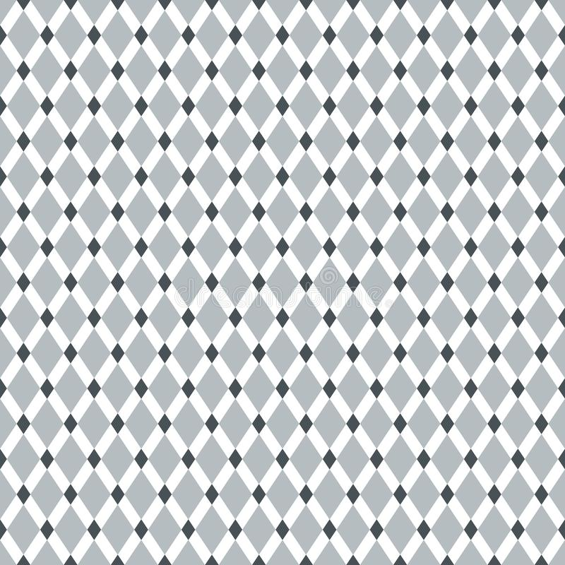 Vintage inconsútil Diamond Pattern Background ilustración del vector