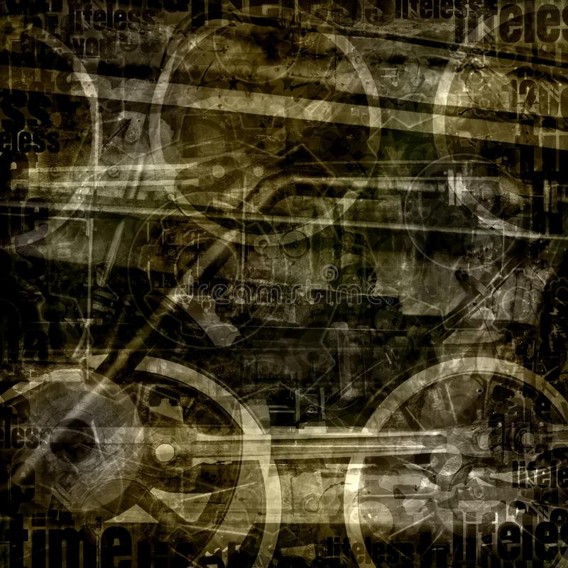 Free Vintage Industrial Abstract Background Stock Photography - 19581862