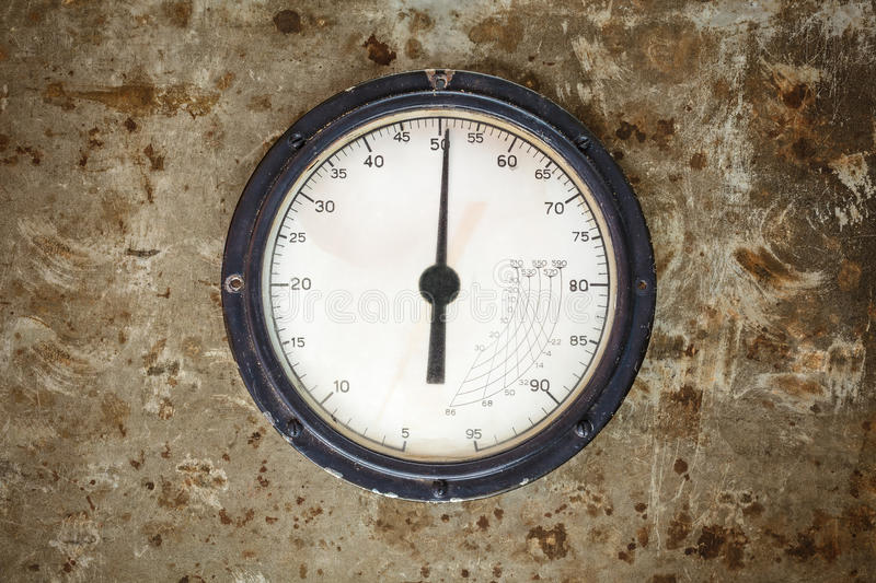 Download Vintage Industrial Meter On A Metal Background Stock Image - Image: 37854559
