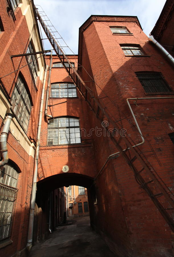 Free Vintage Industrial Red Brick Building In The Industrial Area Of The Old European City. Stock Photography - 66296582