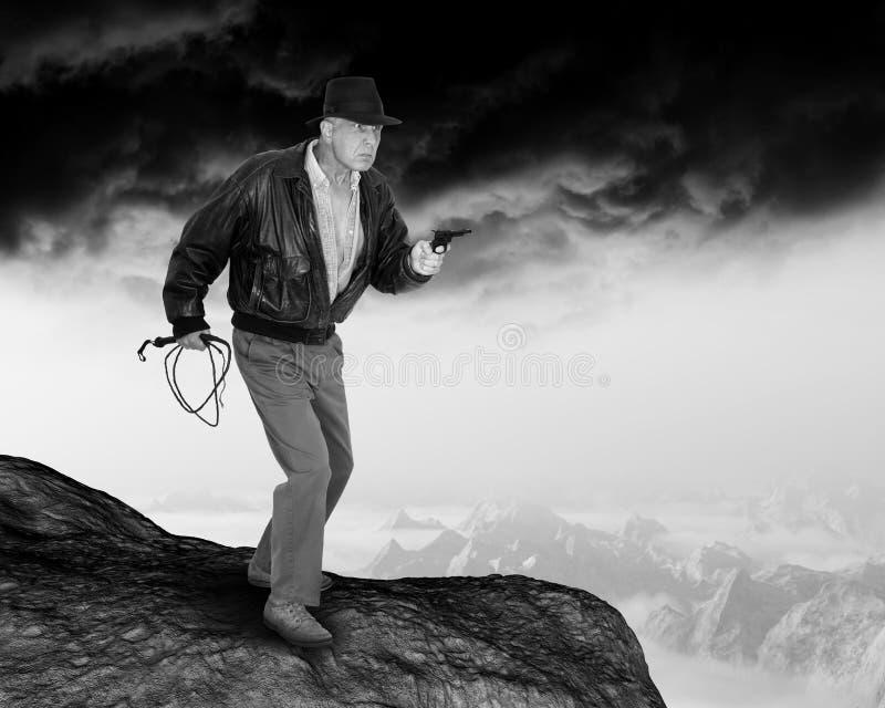 Vintage Indy, Indiana Jones Adeventure fotografia de stock