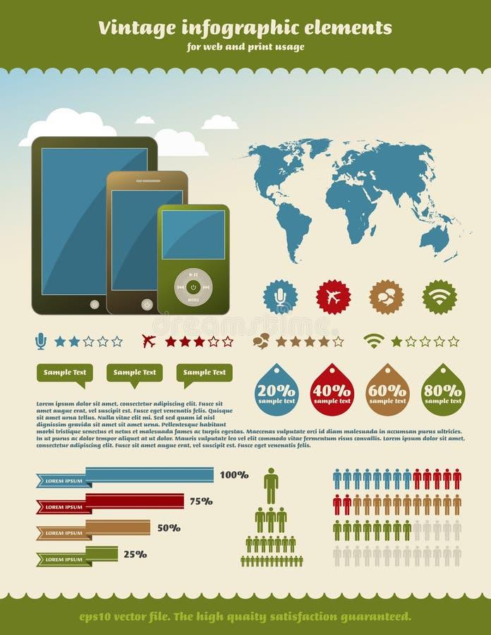 Download Vintage Infographics Element Stock Illustration - Illustration of growth, infographic: 24365854