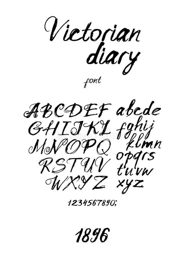 Free Vintage Inky Handwritten Font Stock Photo - 49422130