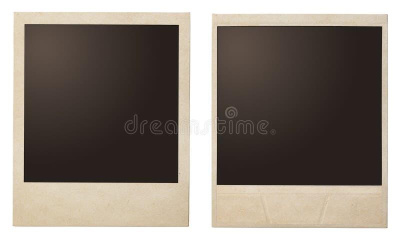 Vintage polaroid frames stock images