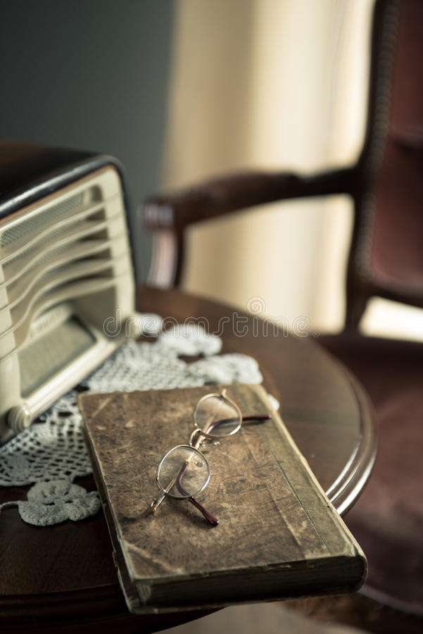 Download Vintage Interior With Old Radio And