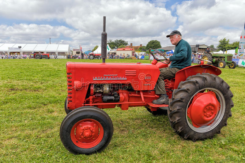 Vintage International B250 Tractor. An International B250 tractor being exhibited at the Hanbury Countryside Show in Worcestershire. This tractor was stock photos