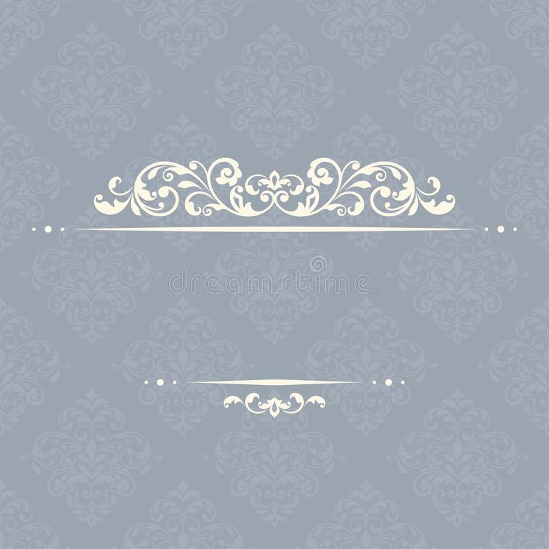 Vintage invitation card. This is file of EPS10 format royalty free illustration