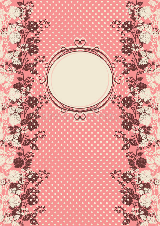 Download Vintage Invitation Card With Roses Stock Vector - Image: 33032508