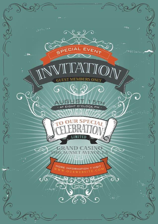 Vintage invitation poster background stock vector illustration of download vintage invitation poster background stock vector illustration of information circus 32288839 stopboris Choice Image