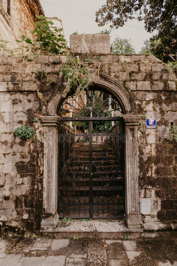 Vintage iron gates royalty free stock photo