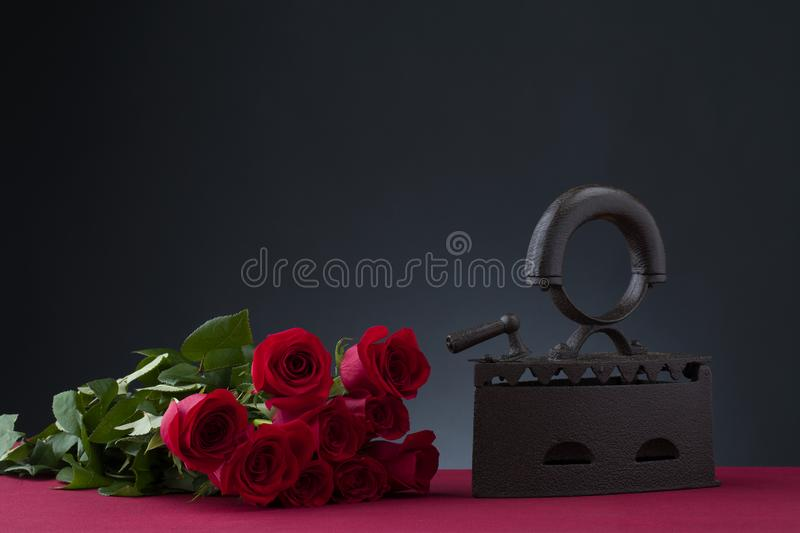 iron and rose stock image