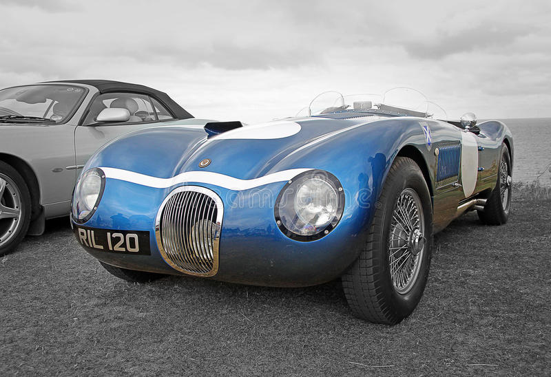 Download Vintage Jaguar Racing Car Editorial Image Of Chrome