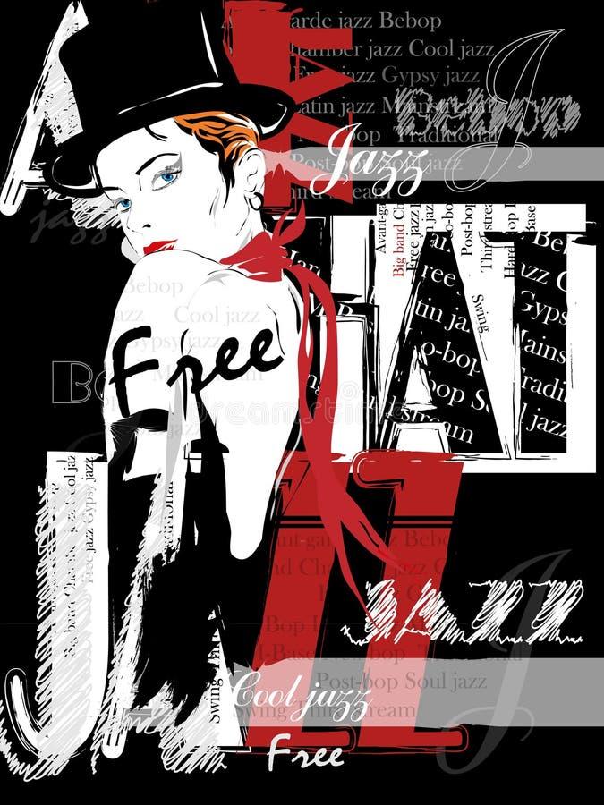 Vintage Jazz Poster Background libre illustration