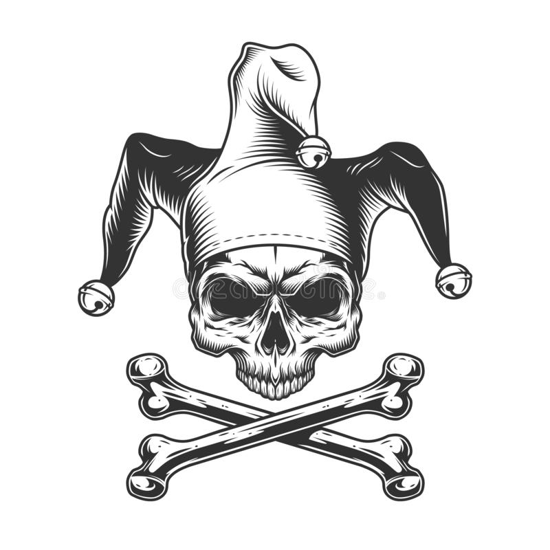 Free Vintage Jester Skull Without Jaw Stock Photos - 136007663