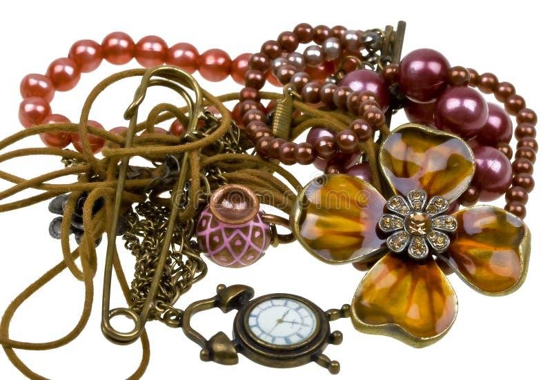 Vintage jewellery stock photo