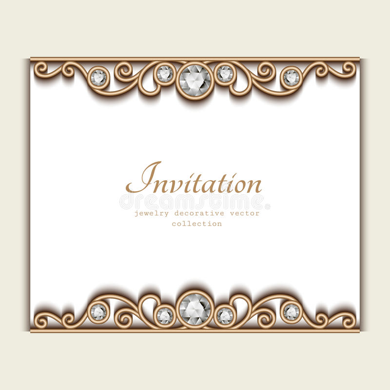Vintage jewelry card invitation template stock vector image download vintage jewelry card invitation template stock vector image 65915180 stopboris Images