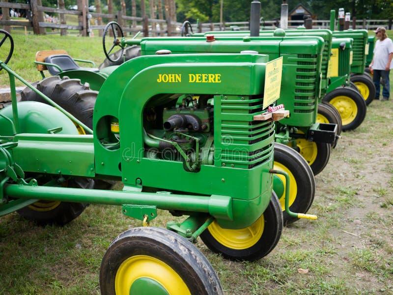 Vintage John Deere Antique Tractors Editorial Photography