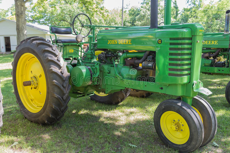 Vintage John Deere Model G Farm Tractor royalty free stock images