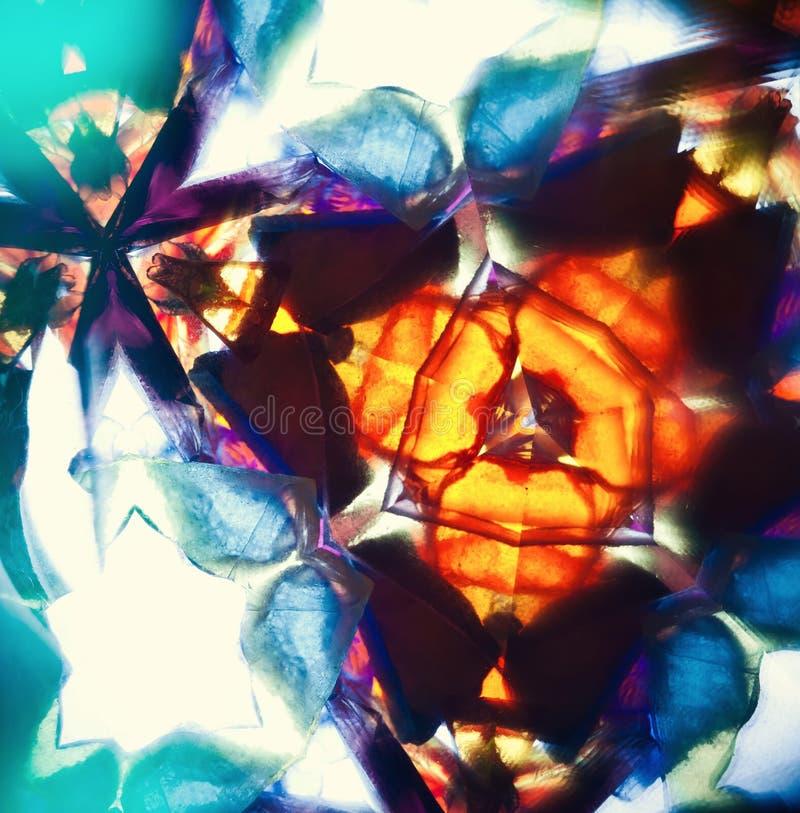 Vintage kaleidoscope pattern. Macro image royalty free stock photography