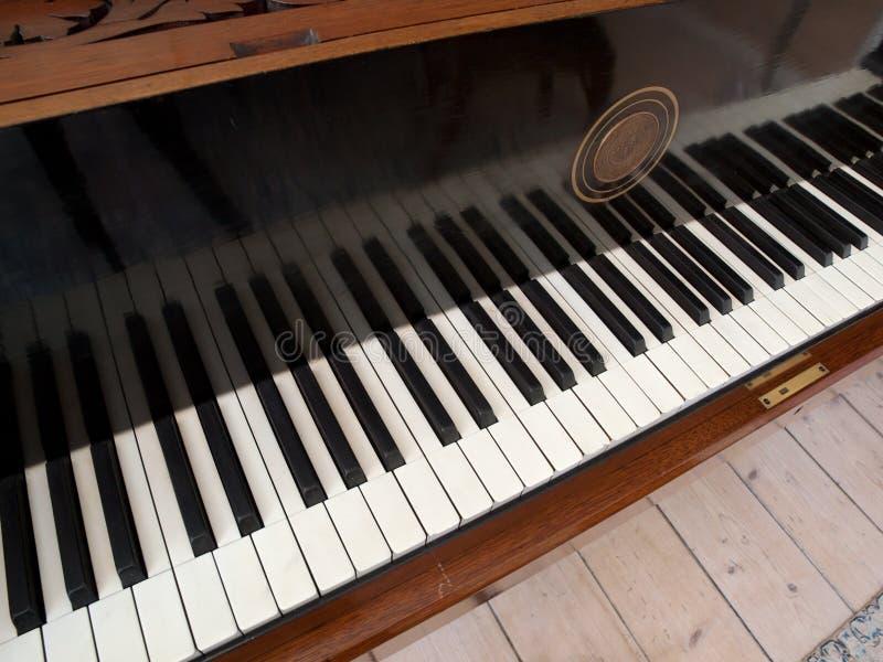 Download Vintage Keyboard stock image. Image of reflection, ebony - 14455149