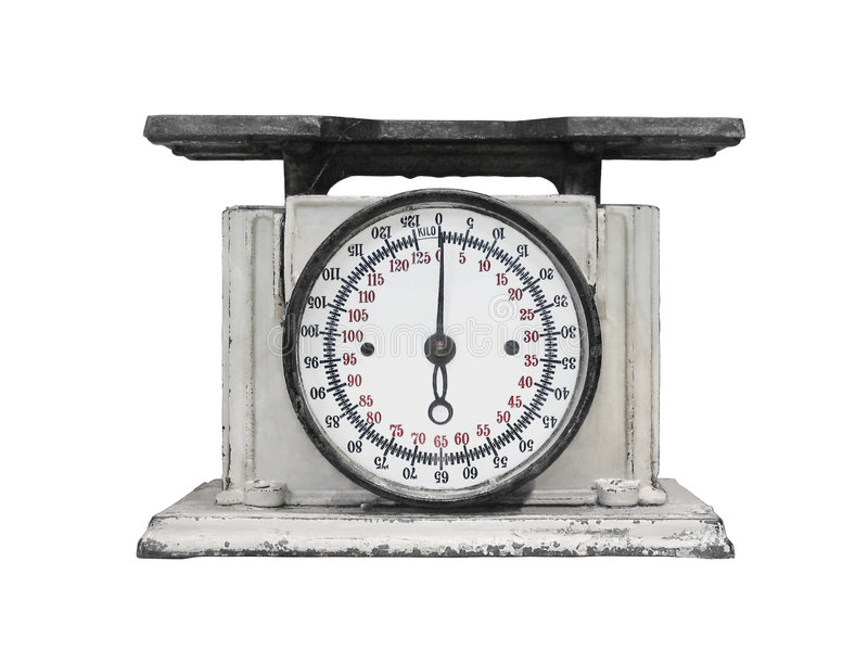 Download Vintage Kitchen Scales Isolated Stock Image   Image: 7833845
