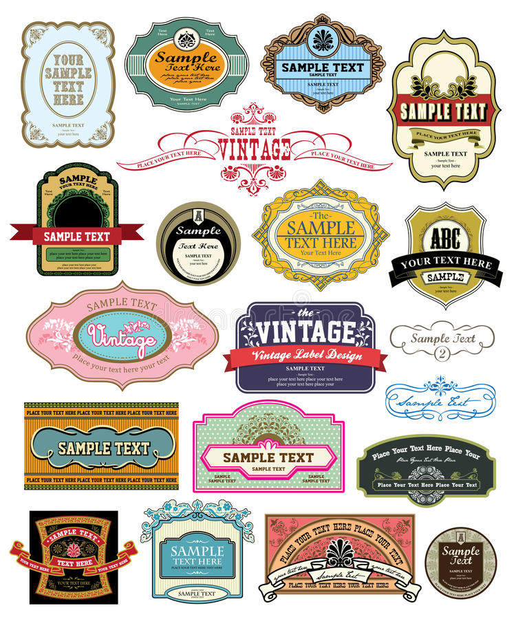 Download Vintage Label Royalty Free Stock Photography - Image: 15440987
