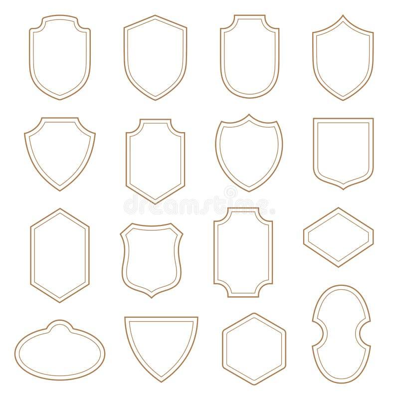 Vintage Label Badge Shield Design Heraldic Classic Shape Stock ...