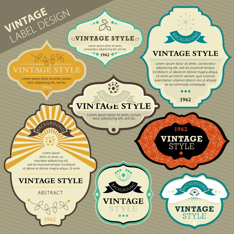 Download Vintage label set stock illustration. Image of border - 19990279