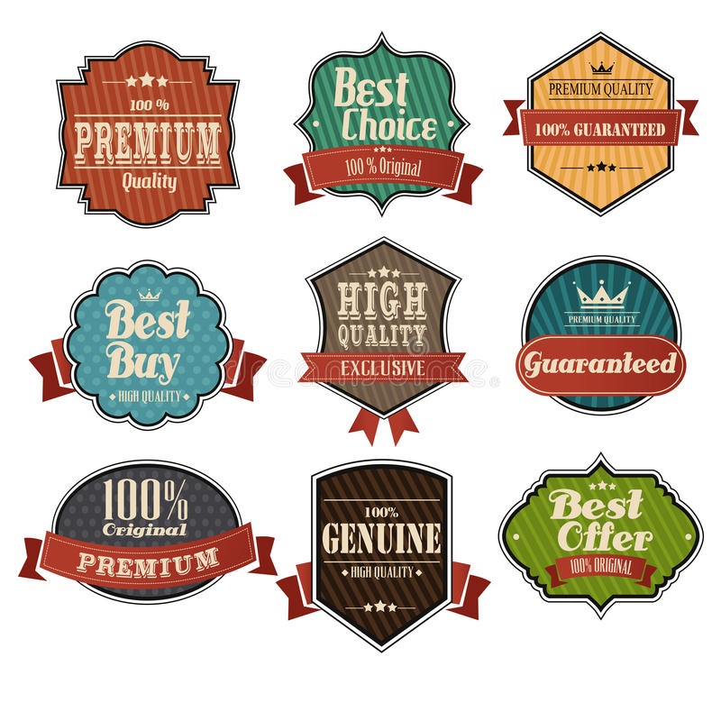 Vintage label sets royalty free illustration