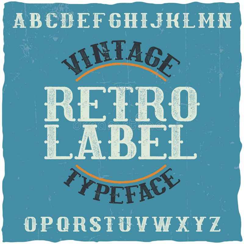 Vintage Label Typeface Stock Vector. Illustration Of Text