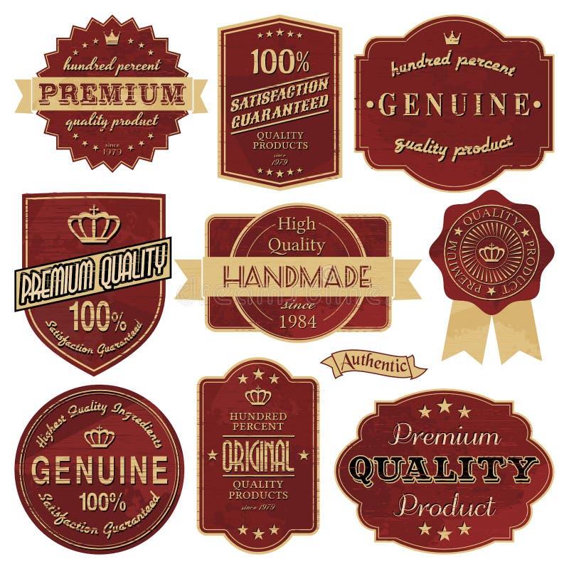 Vintage Labels Stock Photos