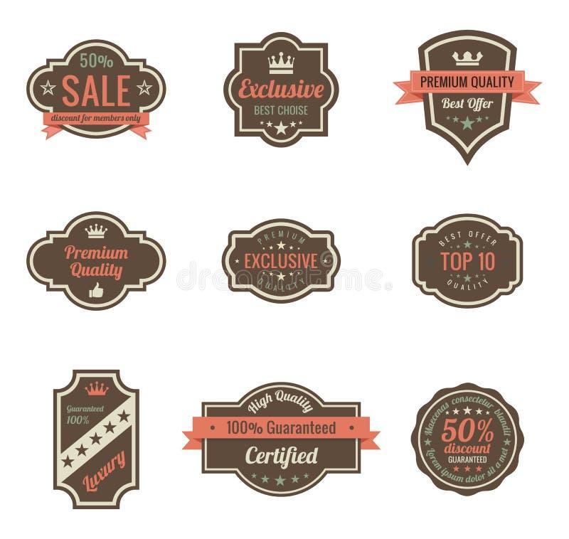 Vintage Labels. stock illustration
