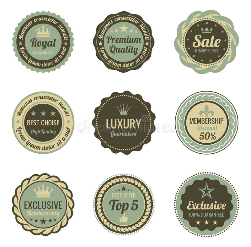 Vintage Labels. royalty free stock photo