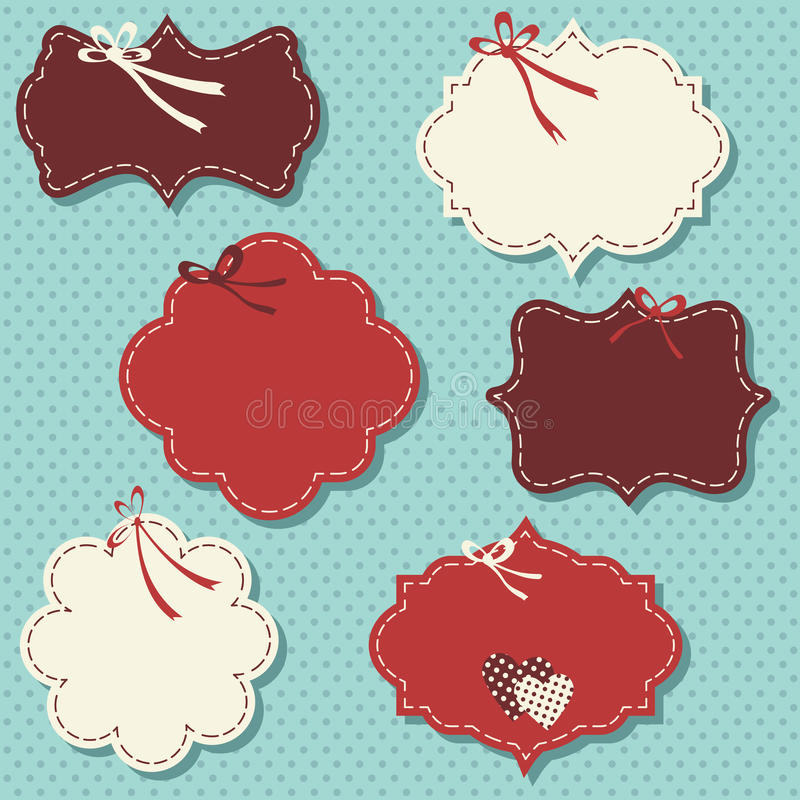 Vintage labels for christmas or winter stock illustration