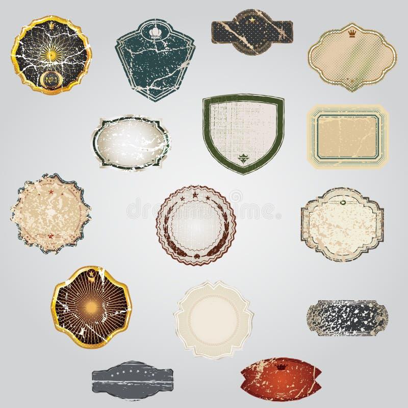 Vintage Labels Collection - set design elements with grunge. Vintage Vector Labels Collection - set design elements with grunge vintage style royalty free illustration