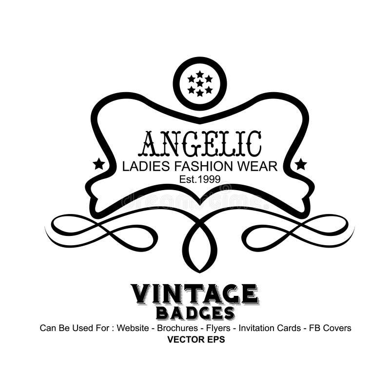 Vintage Labels - Fashion vector illustration