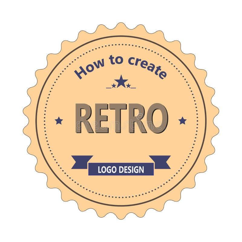 Vintage labels retro logo vector. General illustration stock illustration