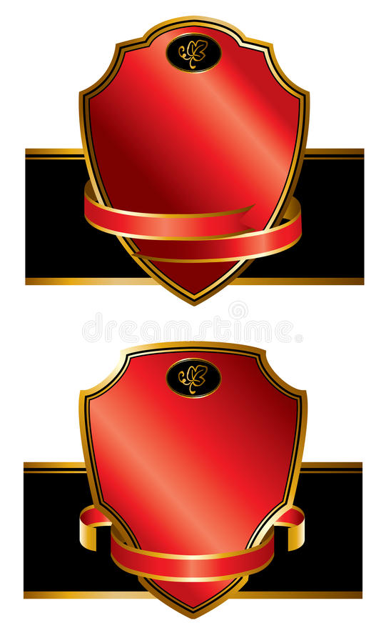 Download Vintage Labels With Ribbons Stock Vector - Image: 21649524