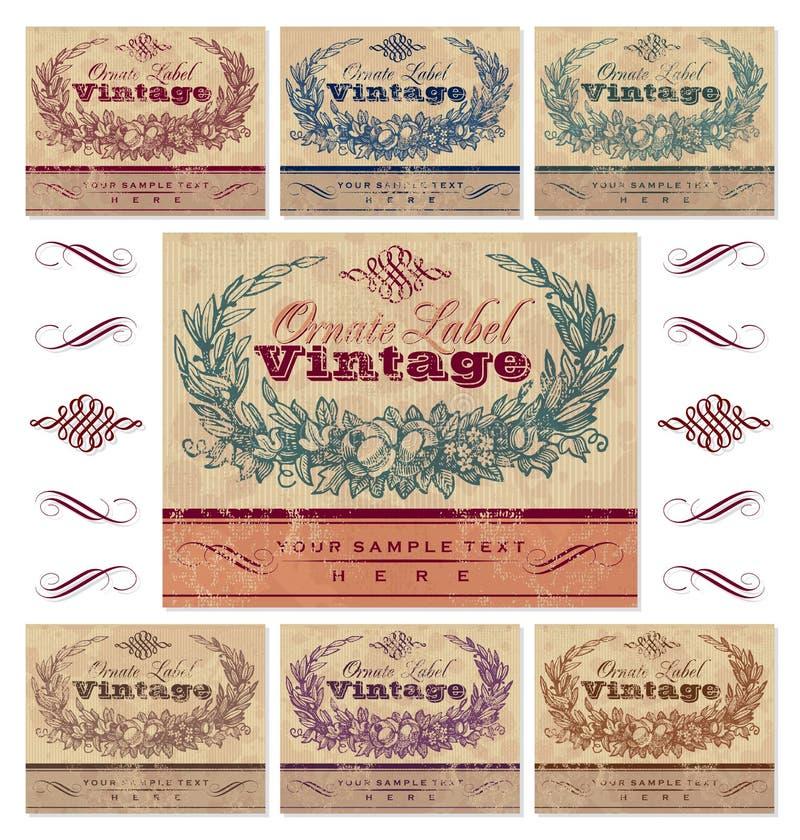 Vintage labels set (vector) royalty free illustration