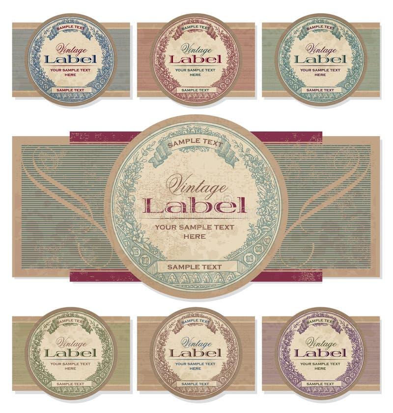 Vintage labels set (vector) stock illustration
