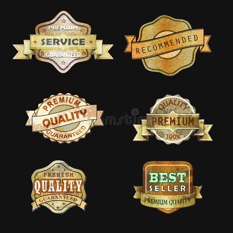Download Vintage lable03 stock vector. Image of cyoise, product - 43333905