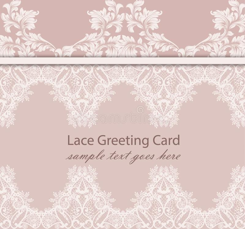 Download Vintage Lace Background Vector Intricate Handmade Ornaments Stock